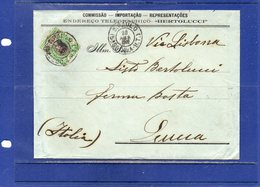 ##(ROYBOX1)-Postal History- Brazil 1902-Cover From S.Paulo To Lucca-Italy Via Lisbon - Brasile