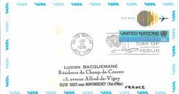 Onu, United Nations, Nations Unies,new York, Entier Postal 1975, Env Fdc13c , Poste Aérienne,avion,air Mail, 165x92 - New York -  VN Hauptquartier