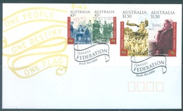AUSTRALIA  - FDC - 22.5.2000 - ONE PEOPLE ONE DESTINY ONE FLAG - Yv 1824-1827 - Lot 18616 - Premiers Jours (FDC)