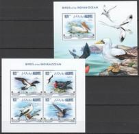VV964 2013 MALDIVES FAUNA BIRDS OF THE INDIAN OCEAN KB+BL MNH - Oiseaux