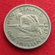 New Zealand 1 One Shilling 1947 KM# 9a  Nova Zelandia Nuova Zelanda Nouvelle Zelande - Nouvelle-Zélande