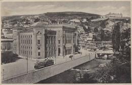 Postcard Sarajevo  Bosnia Kingdom Yugoslavia 193? Tram - Bosnie-Herzegovine