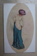 RAPHAEL KIRCHNER ~ Princesse Riquette NUDE BELLE , Nude - Naked - Nu - SEINS NUE - Old Vintage Postcard - Kirchner, Raphael