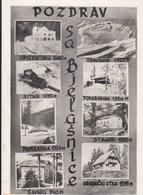 Postcard Bjelasnica Mountain 1957 Sarajevo Bosnia Yugoslavia - Bosnie-Herzegovine