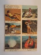 Scooter, Vespa, Homme Avec Casque - Pin Up, Femmes En Maillot De Bain - Cartes Postales