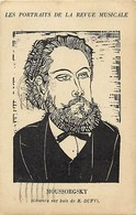 Themes Div-ref Z349- Illustrateurs -illustrateur -gravure Sur Bois De R Dufy -moussorgsky Compositeur Russe -russie  - - Singers & Musicians