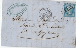 N° 22   /L  (. ) GC 4235 Bien Apposé De VILLEFAGNAN  / 10.8.63-> Angoulème  ( Pothion Indice 9 ) - Marcophilie (Lettres)