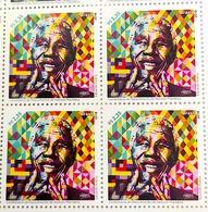 Brazil 2018 Stamps Block Of 4 Nelson Mandela Africa Art Kobra - Brazil