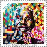 Brazil 2018 Stamps Nelson Mandela Africa Art Kobra - Unused Stamps