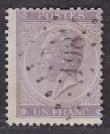 """émission 1865 - N°21 Obl Pt 198 """"Jodoigne"""" - 1865-1866 Linksprofil"""