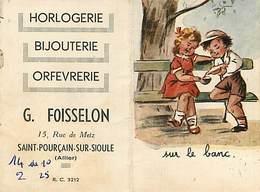 Bouret Germaine : Saint Pourçain Sur Sioule  Petit Calendrier Année 1955 - Bouret, Germaine