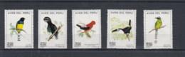 Peru (BBK) Michel Cat.No. Mnh/** 862/866 Birds - Peru