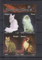 Peru (BBK) Michel Cat.No. Mnh/** 2235/2238 Cats - Peru