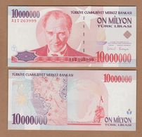 AC - TURKEY - 7th EMISSION 10 000 000 TL A UNCIRCULATED - Turquie