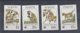 St.Kitts (BBK) Michel Cat.No. Mnh/** 184/187 Wwf - St.Kitts-et-Nevis ( 1983-...)