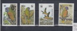 St.Lucia (BBK) Michel Cat.No. Mnh/** 909/912 Birds - St.Lucia (1979-...)