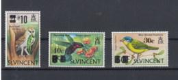 St.Vincent (BBK) Michel Cat.No. Mnh/** 343/345 Birds - St.Vincent (1979-...)