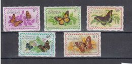 Grenadinen Of St. Vincent (BBK) Michel Cat.No. Mnh/** 58/62 Butterfly - St.Vincent (1979-...)