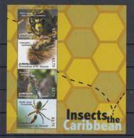 Grenadinen Of St. Vincent Canouan  (BBK) Michel Cat.No. Mnh/** Sheet 221/224 Insects - St.Vincent & Grenadines