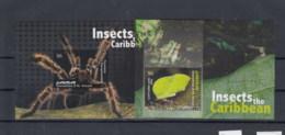 Grenadinen Of St. Vincent Canouan  (BBK) Michel Cat.No. Mnh/** Sheet 21/22 Insects - St.Vincent & Grenadines