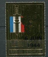 Centrafrique ** PA 416  -  Portait Du Général De Gaulle  Timbre Sur Feuille D' Or - Centrafricaine (République)