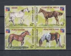 Uruguay (BBK) Michel Cat.No. Mnh/** 2459/2462 Horses - Uruguay