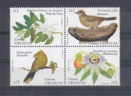Uruguay (BBK) Michel Cat.No. Mnh/** 3110/3113 Birds - Uruguay