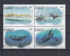 Uruguay (BBK) Michel Cat.No. Mnh/** 3192/3195 Whale - Uruguay