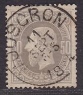 """émission 1869 - N°35 Obl Simple Cercle """"Mouscron"""" TB - 1869-1883 Léopold II"""