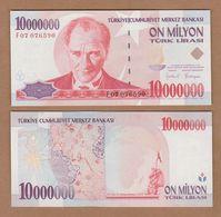 AC - TURKEY - 7th EMISSION 10 000 000 TL F UNCIRCULATED - Turquie