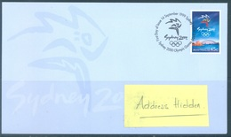 AUSTRALIA  - FDC - 14.9.1999 - SYDNEY OLYMPIC GAMES - Yv 1762 - Lot 18618 - Premiers Jours (FDC)