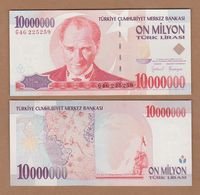 AC - TURKEY - 7th EMISSION 10 000 000 TL G UNCIRCULATED - Turquie