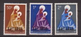 SERIE NEUVE DU KATANGA - NOËL 1959 N° Y&T 1 A 3 - Noël