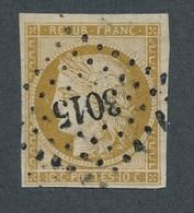 CI-2: FRANCE: Lot Avec N° 1 Obl Pc N°3015 Bien Frappé - 1849-1850 Ceres