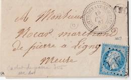 """N° 22   /L  (. ) GC 4284 De VILLOTTE-DEVANT-ST-MIHIEL   / 19.12.67-> Ligny En Barrois De Boite Rurale """" OR"""" ( LIGNIERE ) - Marcophilie (Lettres)"""