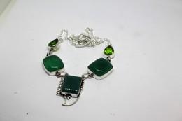 Collana Di Crisoprasio E Peridoto Colore Verde Misura 48 Cm. - Collane/Catenine