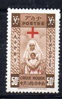 ETP60D - ETIOPIA 1950 , Yvert  N 282  ***  MNH. CROCE ROSSA - Ethiopia
