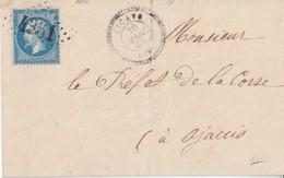 N° 22   /L  (. ) GC 4361 De ZICAVO ( Corse Du Sud)   / 30.3.63-> AJJACIO   ( Pothion Indice17 ) - Marcophilie (Lettres)