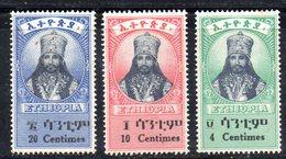ETP61c - ETIOPIA 1942 , Yvert  N 227/229  *  Linguella Pesante - Ethiopia