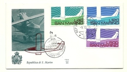 1974 - San Marino PA 151/53 Volo A Vela - FDC - Timbres