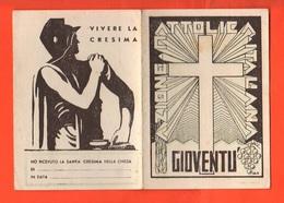 Azione Cattolica Tessera Effettivo Junior 1938 Belluno Aspiranti Cattolici Gioventu' Italiana - Documentos Antiguos