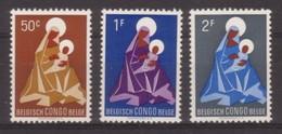 SERIE NEUVE DU CONGO-BELGE - NOËL 1959 N° Y&T 362 A 364 - Noël