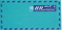 Onu, United Nations, Nations Unies,new York, Entier Postal 1972, Aérogramme  Neuf 15c, Air Letter, Par Avion, Avion - New York -  VN Hauptquartier