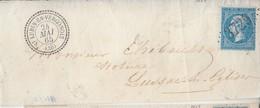 N° 22   /L  (. ) GC 3729 De ST LUBIN EN VERGONNOIS / 24.5.65-*> LUSSAC Les EGLISES - Frappes Suberbes    ( Pothion Indic - Marcophilie (Lettres)