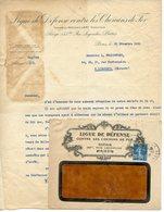 PARIS 75 COURRIER AVEC SON ENVELOPPE DE LA LIGUE DE DEFENSE CONTRE LE CHEMIN DE FER 1920 - France