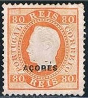 Açores, 1882/4, # 41, Dent. 12 3/4, Papel Liso, Sob. D, MNG - Azores