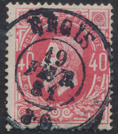 "émission 1869 - N°34 Obl Double Cercle ""Engis"" 19/2/81. TB - 1869-1883 Léopold II"