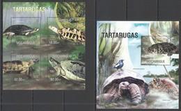 WW015 2013 MOZAMBIQUE MOCAMBIQUE FAUNA REPTILES TURTLES TARTARUGAS KB+BL MNH - Turtles