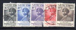 ETP72A - ETIOPIA 1952 , Yvert  Cinque Valori Usati SELASSIE - Ethiopia