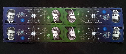Brazil 2018 Block Of 4 Stamps Brazilian Scientists: Cesar Lattes And Joanna Döbereiner Science Atom Agriculture - Brazil
